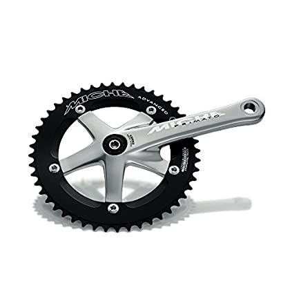 Image of Cassettes & Freewheels Miche Primato Advanced Unisex Track/Fixe Chainset - Silver, 175 mm