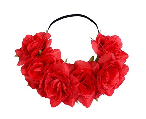 Kewl Fashion Women's Flower Headband for Independence Day Halloween Wreath Headdress -
