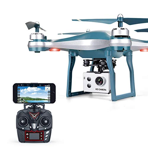 FarJing 2.4Ghz 4CH RC Quadcopter WiFi FPV 720P Wide Angle HD Drone GPS Positioning Four-axis Aircraft 720P High-Definition Aerial Photography Automatically Follow The Drone