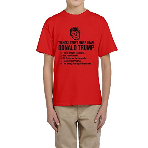 Youth Boys Girls Things I Trust More Than Donald Trump Funny T-Shirt
