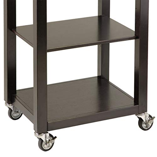 Wood & Style Premium Décor Kitchen Cart with Chrome Accent