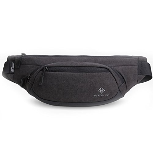 CREELL MCCALL Fanny Pack Waterproof Waist Bags for Cigarette Phone Case Money Belt for Travel Security Wallet (Black Cigarette Money Case)