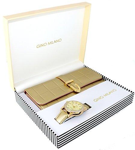 Women's Matching Watch & Wallet Gift Set - (Milano Ladies Fashion Watch)