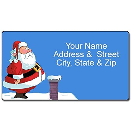 amazon com funny personalized christmas address labels