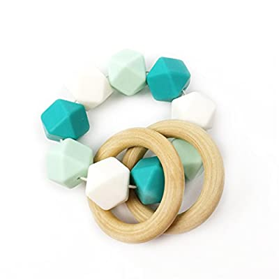 Mamimami Home Teether Mint Infant Teether Wooden Teether Silicone Teether Sensory Toy Baby Toy by Mamimami Home that we recomend individually.
