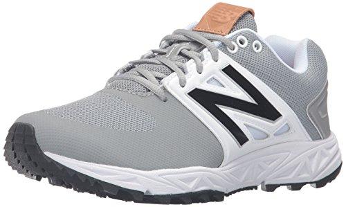 24f7e01107fe2 Galleon - New Balance Men's 3000v3 Baseball Turf Shoes, Grey/White - 8 2E US