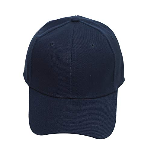 Leke Baseball Cap for Men Women - Classic Adjustable Plain Hat Navy Blue