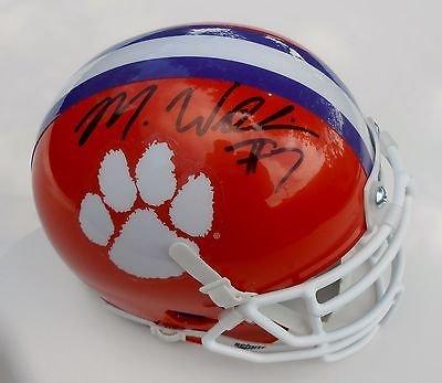 mike-williams-signed-clemson-tigers-football-mini-helmet-w-coa-c
