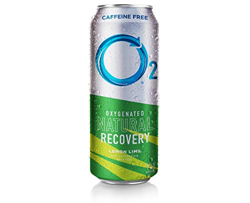 O2 Natural Recovery 12 Pack Oxygentated Recovery Drink, Lemon Lime, 16 Fluid Ounce