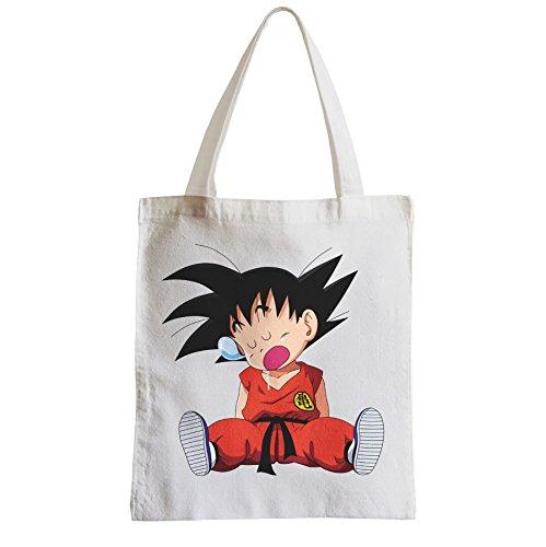 Große Tasche Sack Einkaufsbummel Strand Schüler DBZ Goku Dragon Ball Anime Manga Tired