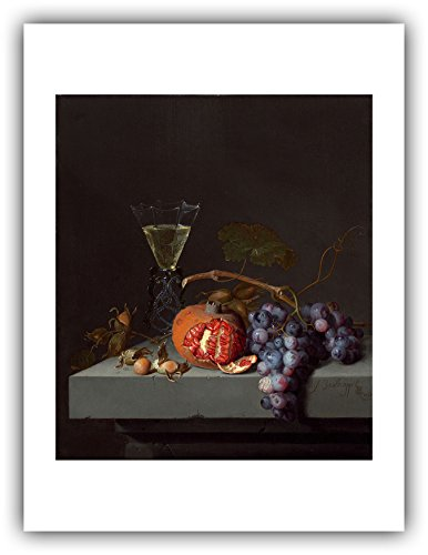 The Ibis Print Gallery - Jacob Van Walscapelle : ''Still Life with Fruit'' (1675) - Giclee Fine Art Print
