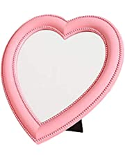 10.6inch Heart Shape Makeup Mirror, Bedroom Dressing Table Decoration (Pink Heart 10.6'')