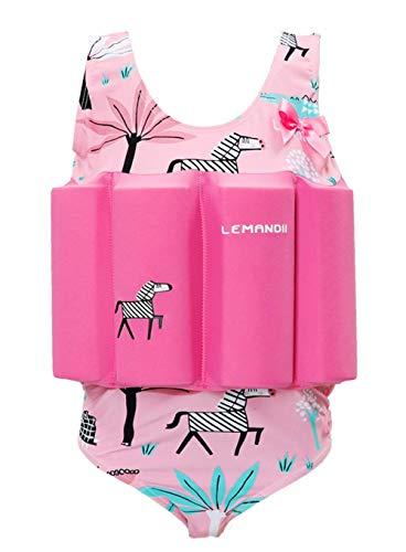 - SKY-ST Baby Kids Floatation Suit Float One-Piece Swimwear Buoyancy for Girls Boys Pink Zebra, 2T / 3T