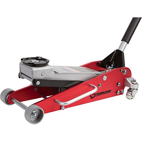 Strongway Hydraulic Aluminum/Steel Quick Lift Service Jack - 2 1/2-Ton Capacity, 3 15/16in.-18 1/8in. Lifting Range by Strongway (Image #2)
