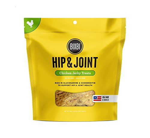 BIXBI Hip & Joint Dog Jerky Treats, Chicken, 15 Ounce