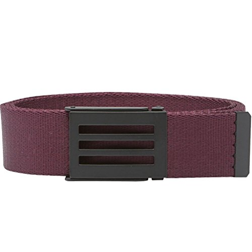 2017 Adidas Belt 3-Stripes Mens Funky Golf Webbing Belt - One Size Red Night (Belt Stripe Webbing)