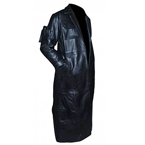 Length Long Leather Costume Trench e Men's Jacket The Genius Classic Coat Black xw1XqOC1