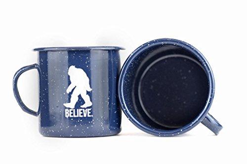 Bigfoot Sasquatch Believe Enamel Mug