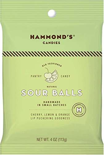 Hammond's Candies Old Fashioned Sour Candy All Natural Drops 4 Ounce bag (Sour, 4 Ounce)
