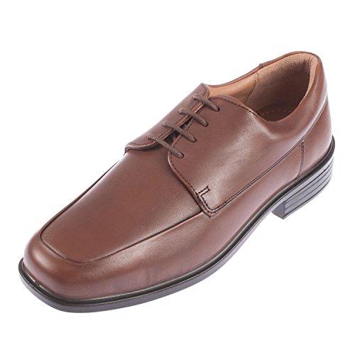 Padders - Chaussures À Lacets En Cuir Pour Homme Blanc, Brun, Taille 46