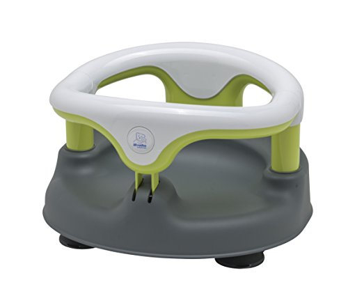 Rotho Babydesign Baby Bath Seat, Grey/White/Apple Green