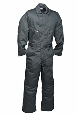 LAPCO CVFRD7SG-LAR XT Lightweight 100-Percent Cotton Flame Resistant Deluxe Coverall, Spruce Green, Large, Extra Tall