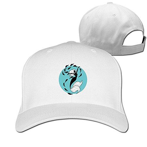 Coney Island Cool Mermaid Classic Ajustable Peak Hat White]()
