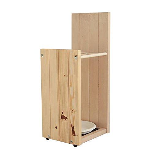 日用品雑貨 生活用品 傘立て 【幅21cm】 木製/天然木 スチール 木目調 NA ナチュラル B073HRY2DV
