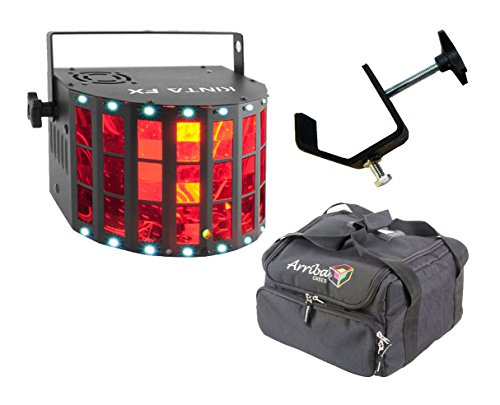 Chauvet Kinta FX LED Derby Effect Laser Strobe Light + Travel Bag + Clamp by CHAUVET DJ