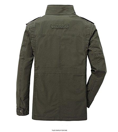 Algodón otoño chaqueta Hombres invierno Militar Ejercito Chaqueta e Primavera Verde q44ZwOrSX