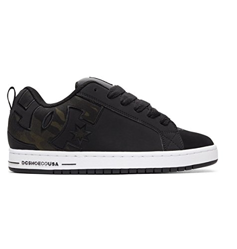 Black Shoes Graffik Para Court Dc Hombre Se Zapatillas Camo 074gHxqn