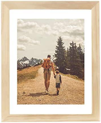 TWIKIK Tabletop Picture Frame Wooden Photo Frames for Desktop Decor 6 x 8 Solid Wood Photo Frame with Mat for 4