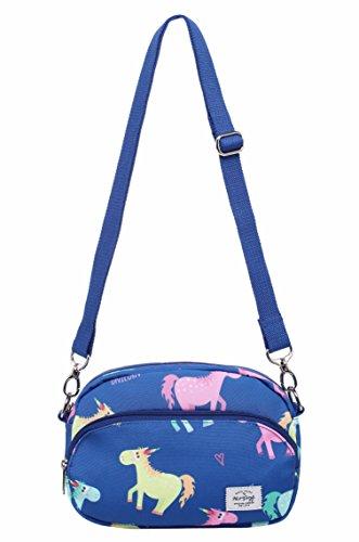 "MIETTE Girls Small Crossbody Purse Cute Messenger Bag | 8.6""x5.9""x1.8"" | Cute Animal, Colorful"