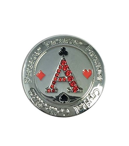 rystal Golf Ball Markers - with Hat Belt Clip - Poker Ace Ball Marker - Unmatched Brilliance and Sparkle on the greens. A Wonderful Golf Gift Idea ()