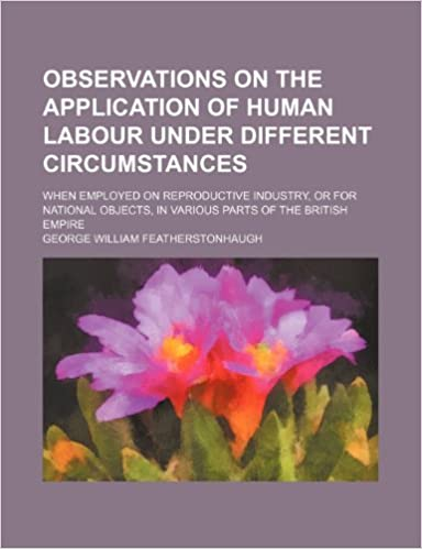 Observations on the Application of Human Labour Under Different Circumstances: When Employed on Reproductive Industry, or for National Objects, in Various Parts of the British Empire