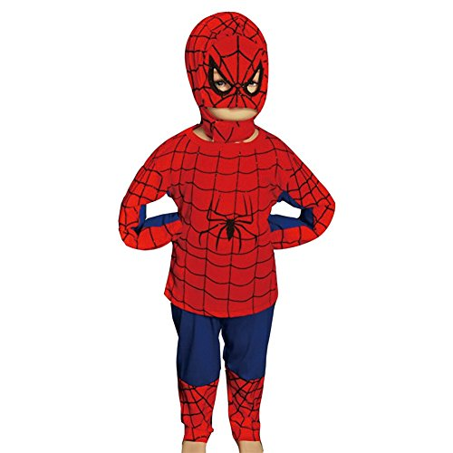Dressy Daisy Boys' Spiderman Superhero Halloween Fancy Party Costume Outfit Size 3T-4T ()