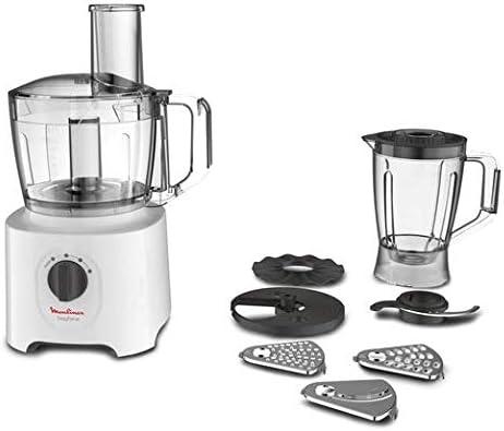 Moulinex FP246110 - Robot de cocina (2,4 L, Blanco, Giratorio, 1,8 ...