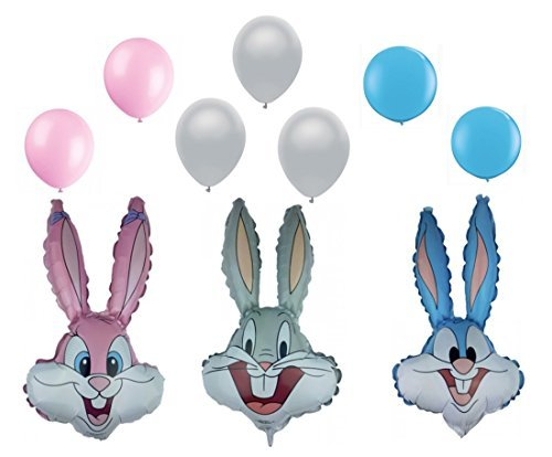 Looney Tunes Bugs Bunny and Friends Latex and Foil Balloons (10pcs) (Bunny Balloon)