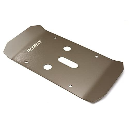 Integy RC Model Hop-ups C27480GREY Stainless Steel (Coated) Center Skid Plate for Traxxas 1/10 E-Maxx