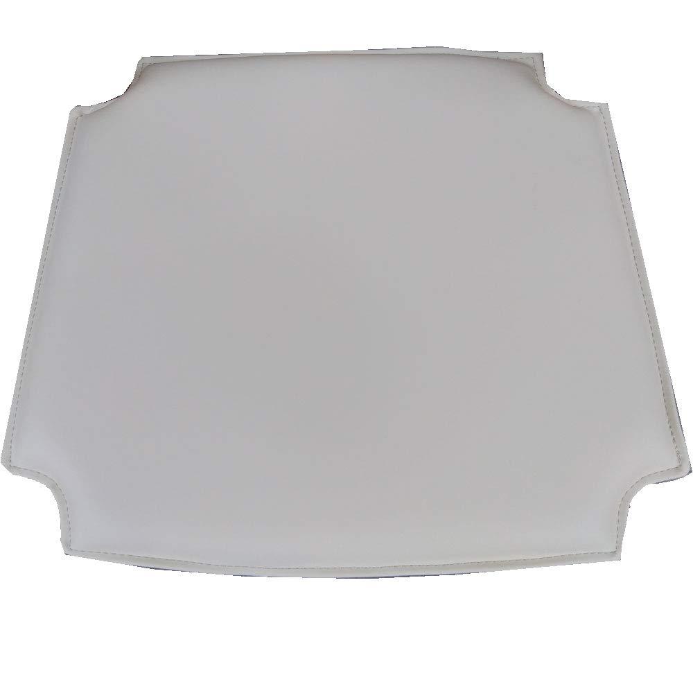 信託 MJ Design ウィッシュボーンチェアシートパッド PU お求めやすく価格改定 ビキャストレザー ホワイト B07H7F8XHB 4 ベージュ