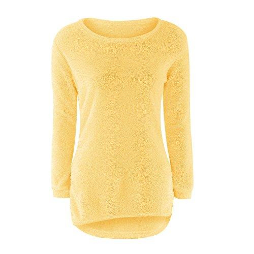donna Maglione lunghe lunghe per Gusspower a a maglione a maniche maglia lavorato donna maglione maniche in TrddOxX