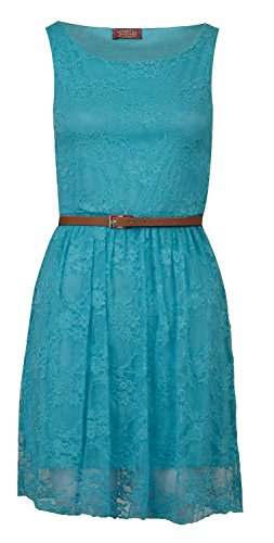 Buy belted lace skater dress - 6