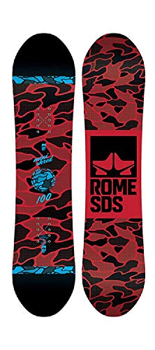 Rome Snowboards Monished Snowboard, Black, 100