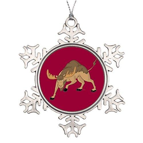 Metal Ornaments Camoose Moose Best Friend Snowflake Ornaments Christmas Tree Snowflake Ornament