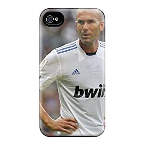 (fGWeXkN7500tOSdD)durable Protection Case Cover For Iphone 4/4s(the Legend Of Football Zinedine Zidane In One Of His Games)