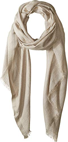 Love Quotes Women's Linen Eyelash Scarf Shiitake One Size