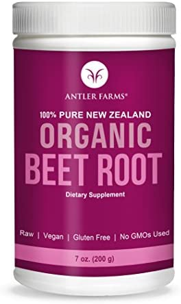 Antler Farms – 100 Pure New Zealand Beet Root Powder, 50 Servings, 200g – Freeze Dried, Raw, Vegan, Gluten Free, Natural Nitric Oxide Booster and Preworkout, for Energy and Health