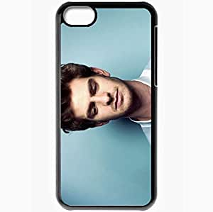 Personalized iPhone 5C Cell phone Case/Cover Skin Andrew garfield face actors Black