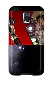 Hot Snap On Iron Man Hard Cover Case Protective Case For Galaxy S5