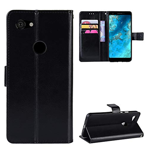 (Torubia Wallet Case for Google Pixel 3A Stylish Slim PU Leather Stand and Card Holders Wallet Phone Cover Protective Case for Google Pixel 3A-Black )
